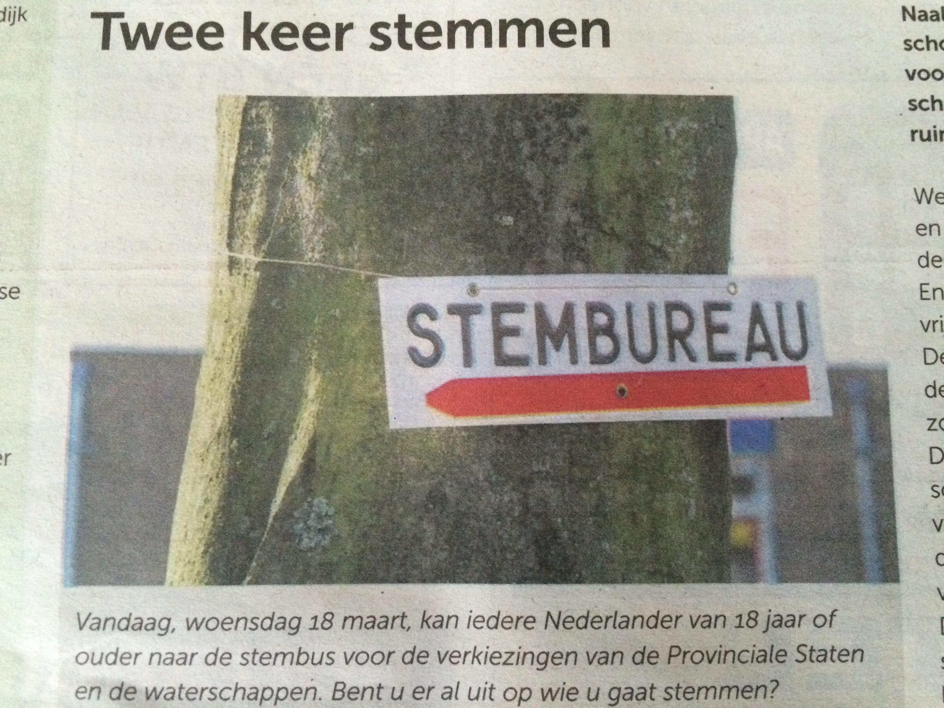 Www.kieskompas.nl en STEM voor 21.00 uur op het stembureau