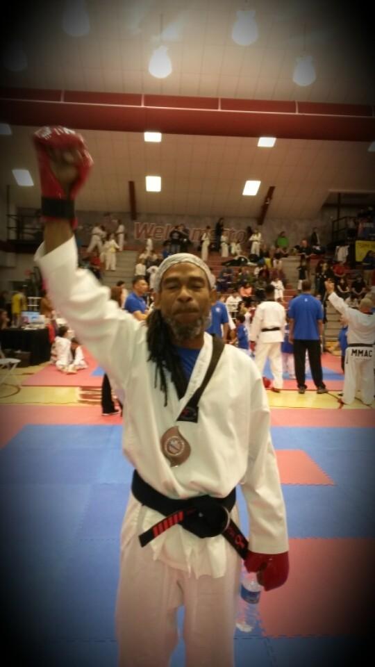 Winning silver medal