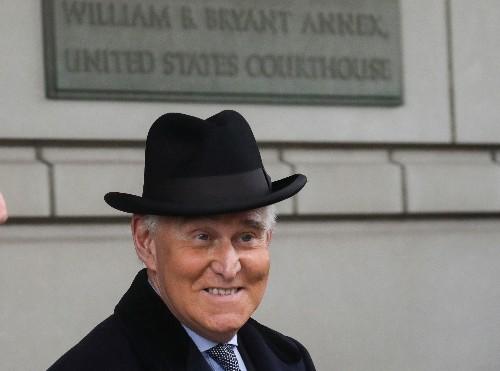 Trump adviser Stone arrives at court as Washington braces for sentence