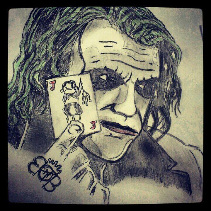 Heath Ledger Joker Artwork