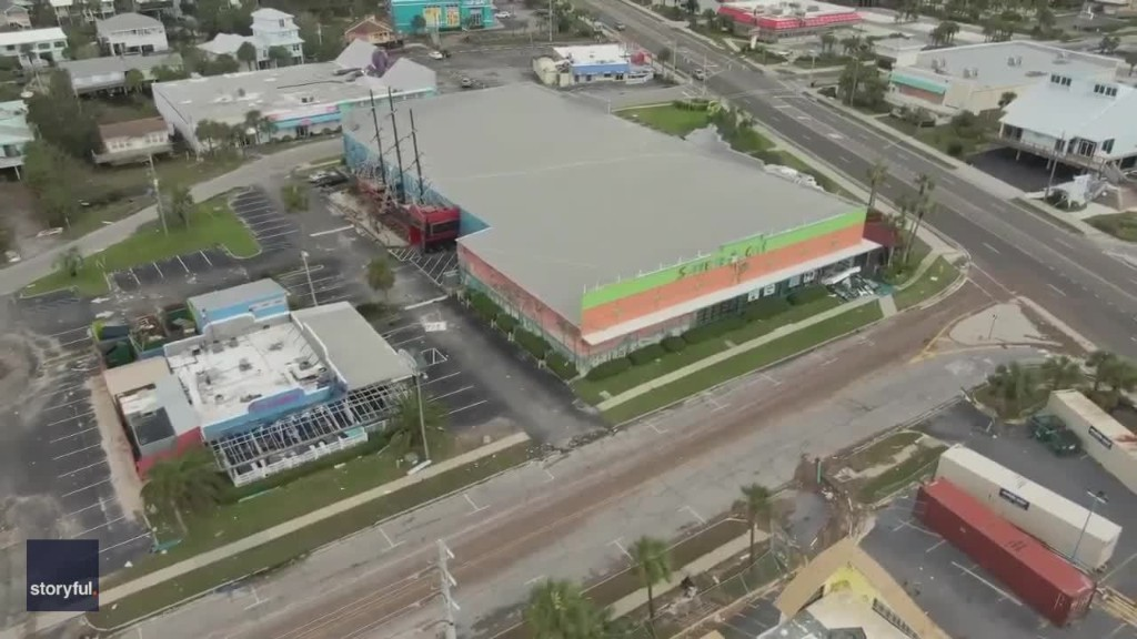 Drone Captures Flooding and Damage From Hurricane Sally in Gulf Shores, Alabama