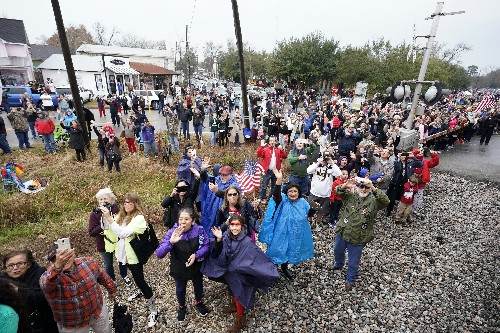 Texas bids Bush farewell with country music, funeral train
