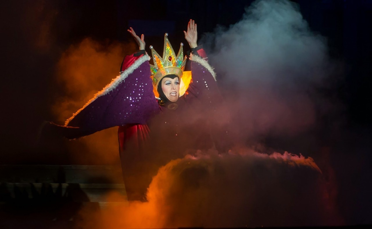 Daily Disneyland: The Evil Queen preparing to become the wicked witch from Fantasmic! #disney #disneyland #fantasmic
