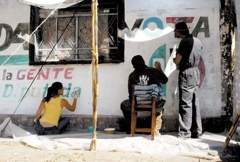 """La """"pinta"""" política, el """"otro muralismo"""" mexicano"""