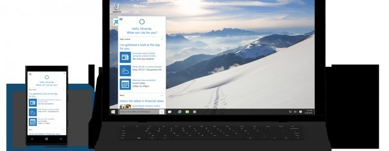 You can now download the newest Windows 10 preview with Cortana and the new Xbox app