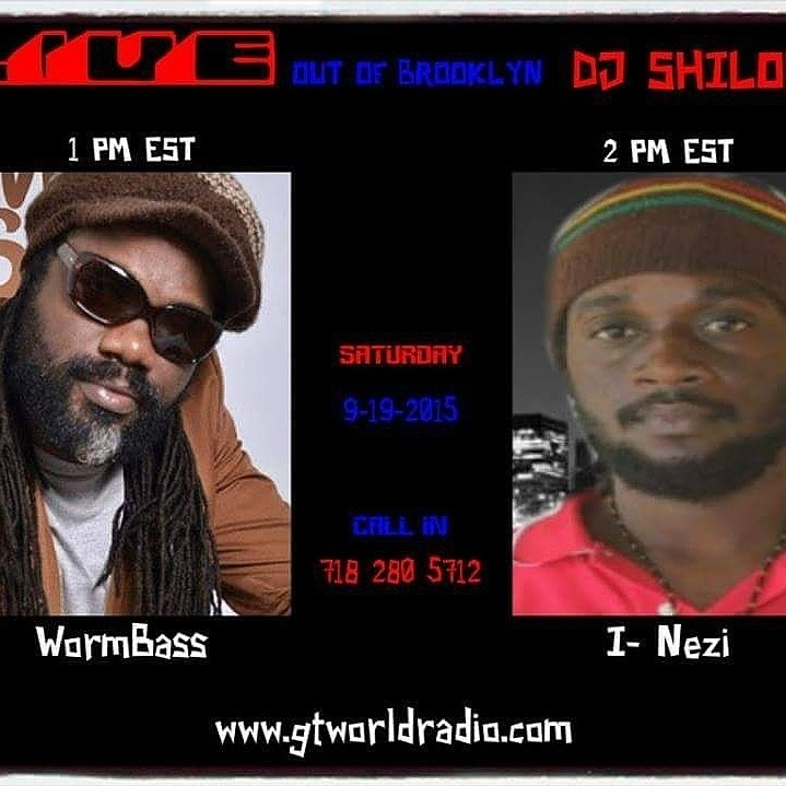 Today, Saturday Sept. 19th tune into the DJ Shiloh show on GTworldradio Station at 1 PM EST for an interview with legendary bass player, turned singer, Delroy WormBass, DJ Shiloh will be talking to Wormbass about his new CD and listening to some of his music that will be coming out on the new CD 'Reggaeman'. Don't miss the show! WORMBASS - ONLY YOU