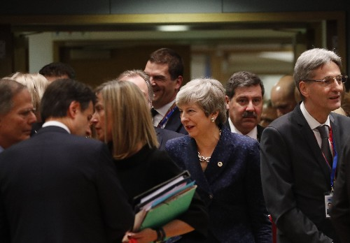 The Latest: May faces backlash in UK over Brexit comments