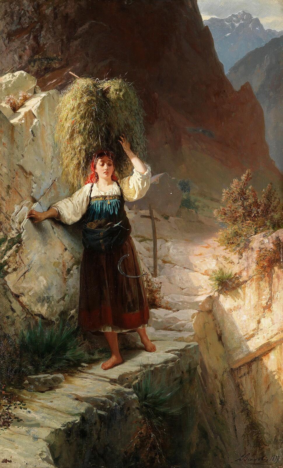 जीवन कही भी ठहरता नही है आँधी से , तूफ़ां से डरता नही है तू ना चलेगा , तो चल देंगी राहे मंज़िल को तरसेगी तेरी निगाहें तुझको चलना होगा , तुझको चलना होगा ........ इंदीवर English : The Dangerous Path, 1899 Painting by Luigi Bianchi, Italian, 1828 - 1914