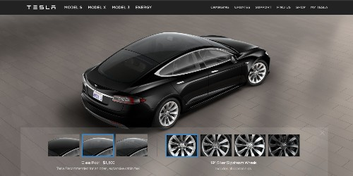 "Tesla adds new ""Glass Roof"" Model S option; discontinues P90D"