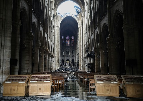 Aftermath of the Fire at Notre Dame: Pictures