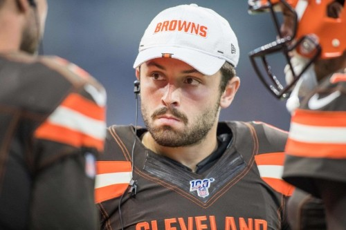 Mayfield clears air with Giants rookie QB Jones