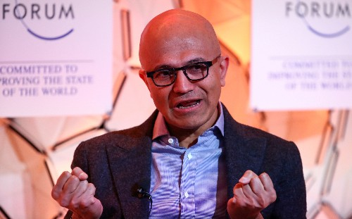 In Mumbai, Microsoft boss Nadella trumpets cloud tie-up with India's Reliance