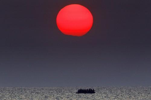 Refugees Land on Greek Island of Kos
