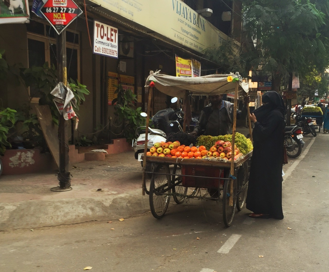 The fruit vendor #iphoneography #streetphotography #india