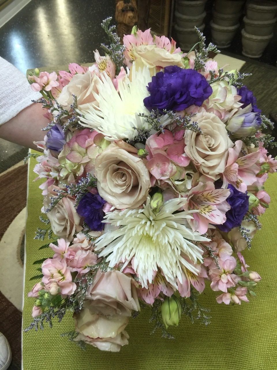 Recent wedding bridal bouquet