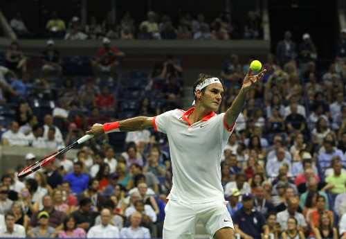 Roger Federer After Dark at the US Open: Photos