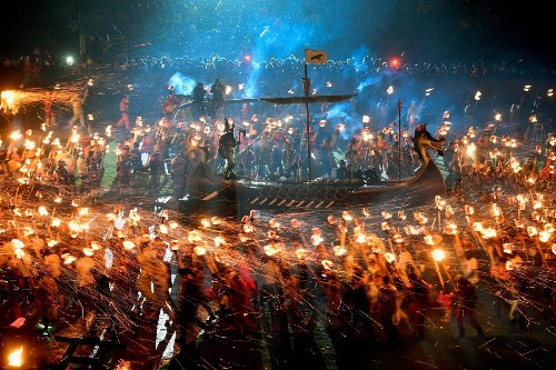 Up Helly Aa Festival in the Shetland Islands: Pictures