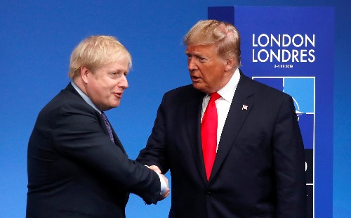 UK PM Johnson says looking forward to meeting Trump in June