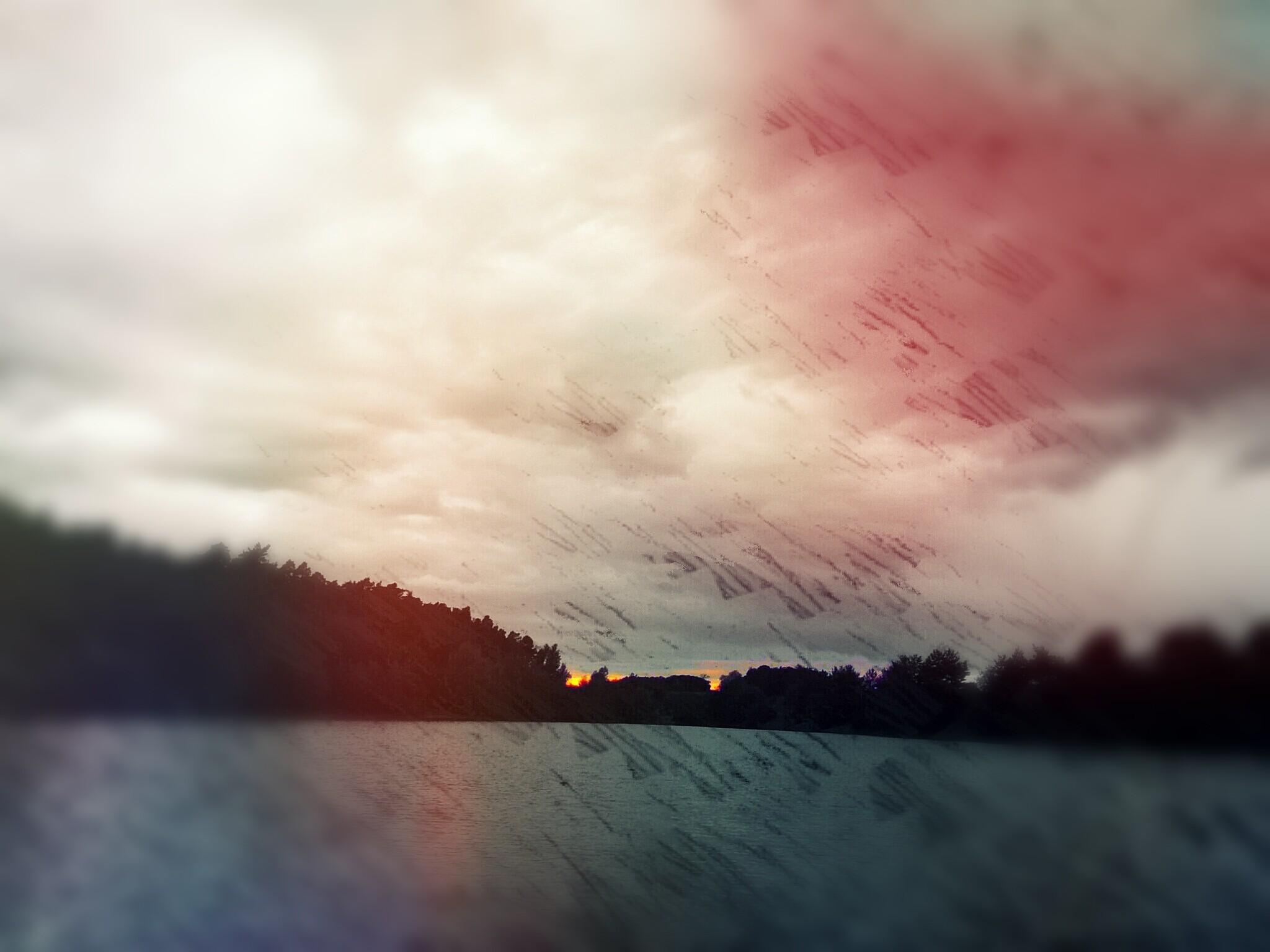 TITEL: Rode wolken in de lucht...... LOCATION: Baggersee Erlangen Germany..... ©Copyright by Kalki Kalkbrenner™