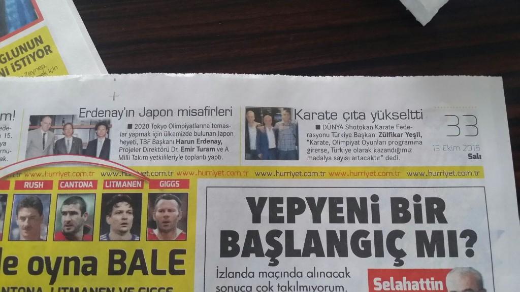 W.s.k.f.turkiye Hürriyet Gazetesinin Manşeti - cover