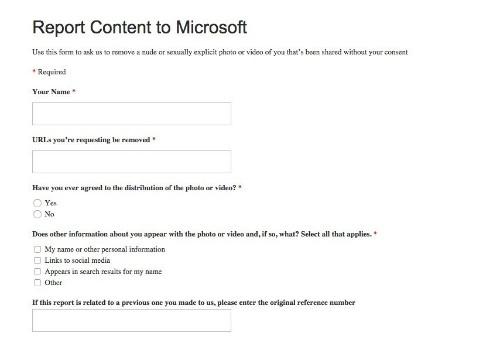 Microsoft Targets Revenge Porn With Link Removal Form