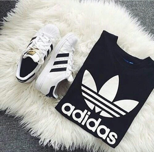 superstar - white with black stripes