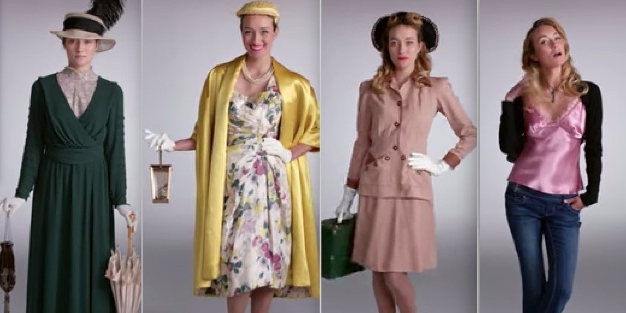 100 anos de moda feminina em apenas 2 minutos (VÍDEO)