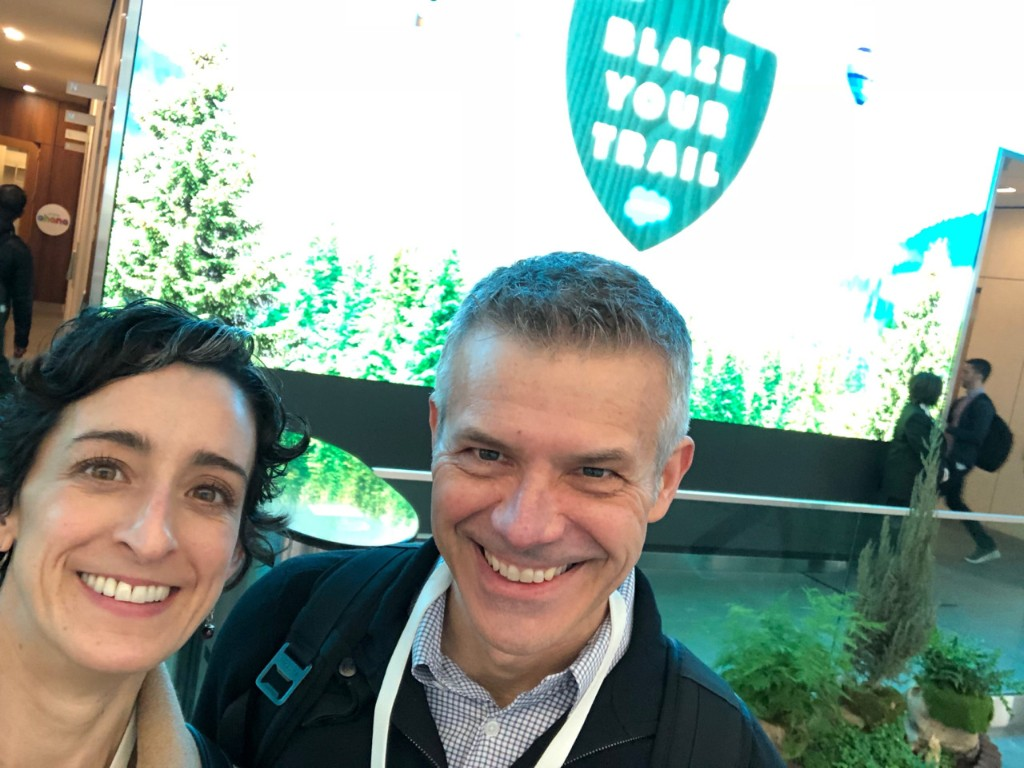 Blazing a trail at Salesforce with @chrisbowlby18.