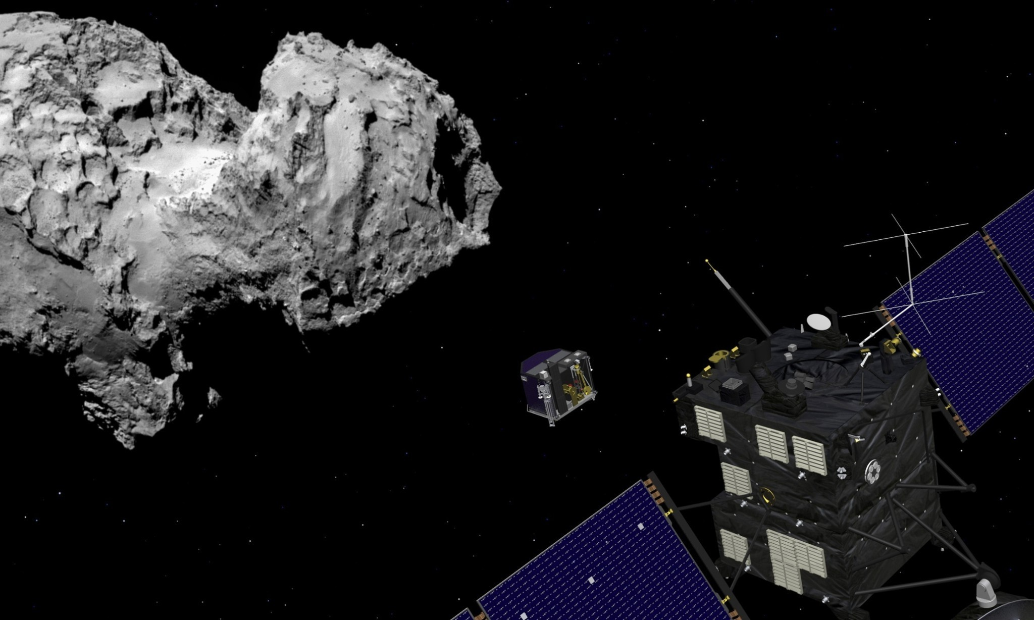 Rosetta comet landing on course despite wake-up glitch