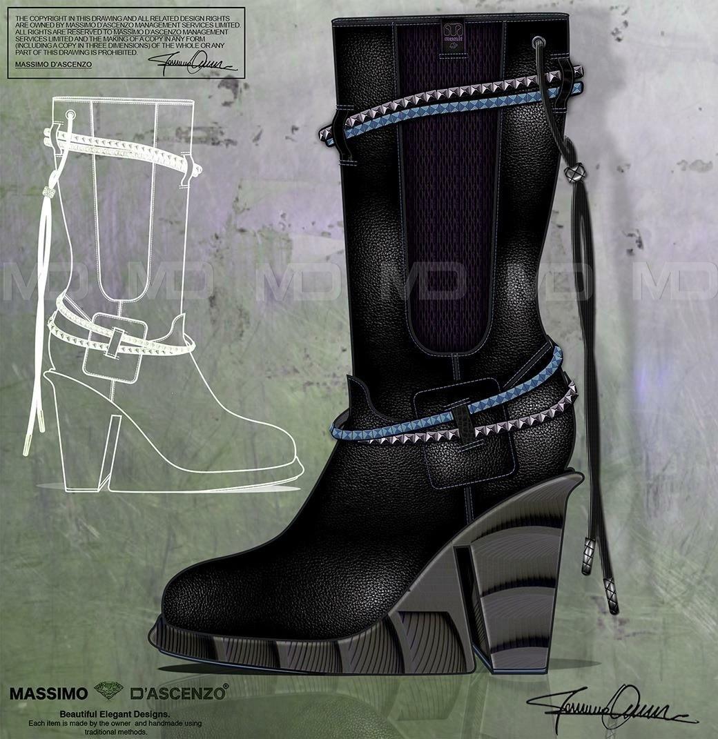 'MD' Massimo D'ascenzo Beautiful Designs. MUMIT FOOTWEAR BY Massimo D'ascenzo. 'MUMIT' - Gothic! Winter Boots. Instagram@massimodascenzo www.massimod.com #luxury#jewellery#handbags#love#fashionAddict. Massimo-Dascenzo-Luxury-Jewellery-Handbags/485052561622939?ref=hlj