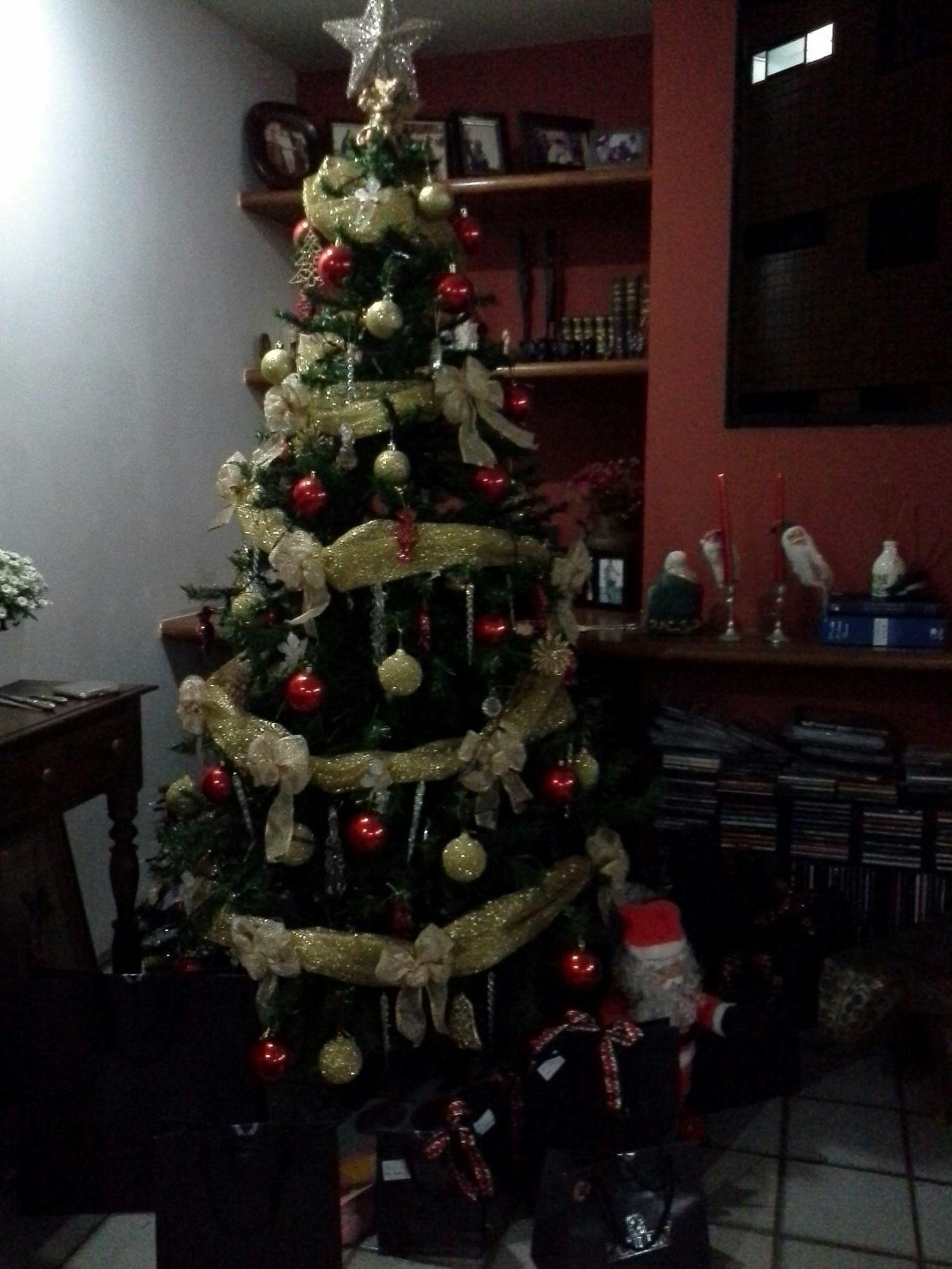 Natal chegando, decorando a casa.