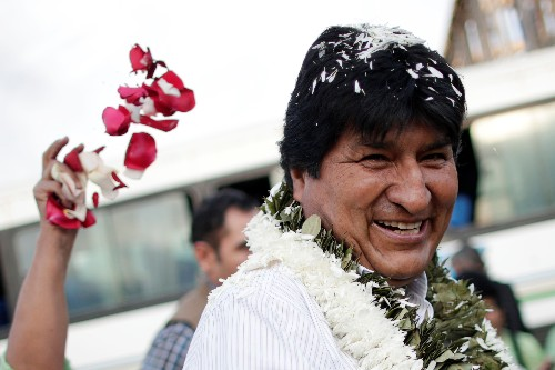 Bolivia's Morales confident of election win despite count suggesting a run-off