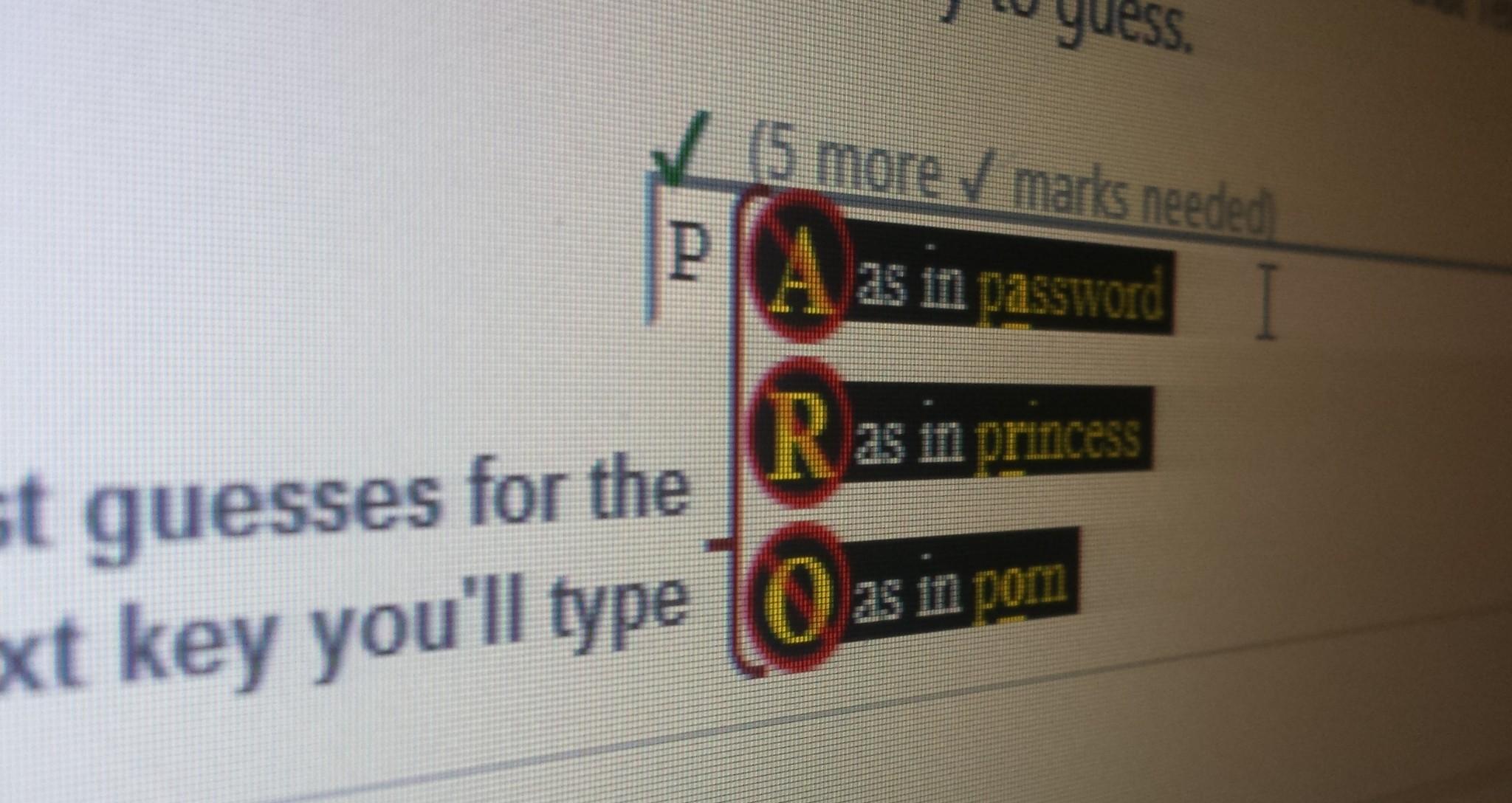 Telepathwords: How Bad are Your Passwords?