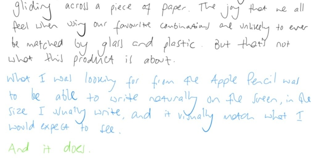 Pen guy gives thumbs-up to Apple Pencil for handwriting after rejecting all previous styli