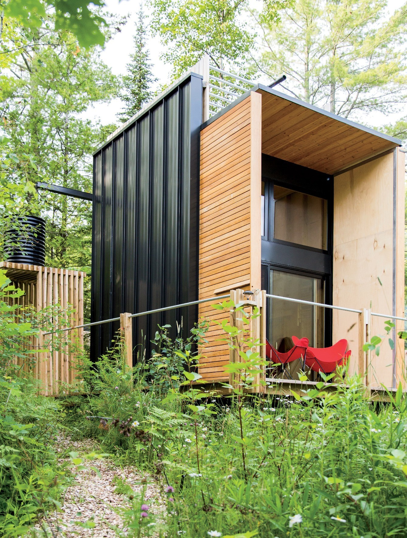Articles about forest retreat combines small living camping experience on Dwell.com