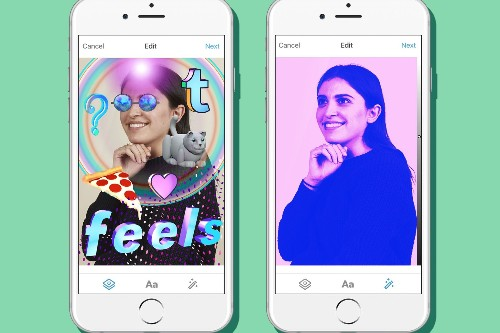 Tumblr gets photo filters and stickers, like every other app