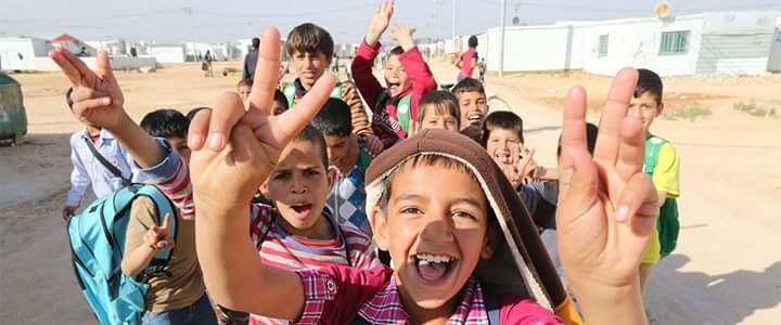 Each year the #InternationalDayofPeace is observed around the world on 21 September. The General Assembly of the United Nations has declared this as a day devoted to strengthening the ideals of peace, both within and among all nations and peoples. Photo courtesy of UN/Sahem Rababah (Children in Zataari Camp in Jordan)