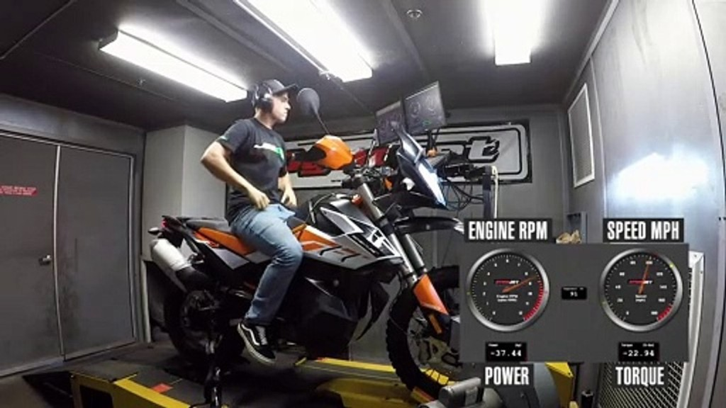 2020 KTM 790 Adventure R Dyno