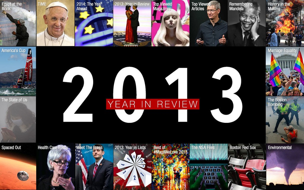 Year End Review 2013 - Magazine cover