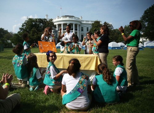 White House Hosts Girl Scouts Campout