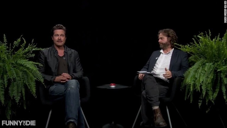 Galifianakis annoys Brad Pitt on 'Between Two Ferns'