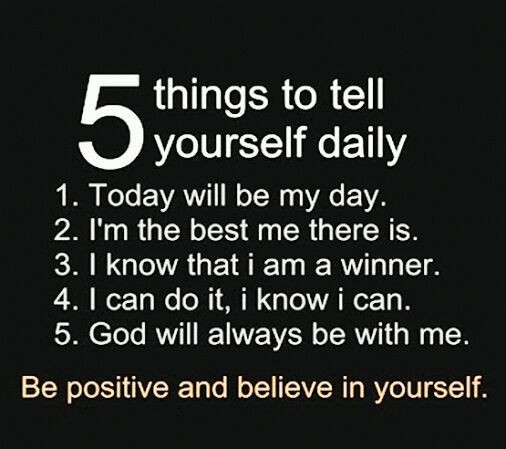 Tell yourself this everyday