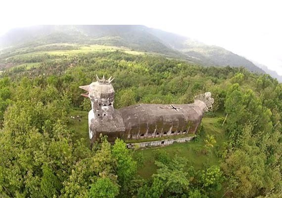 This giant dove building located in Magelang city, near famouse of Borobudur temple, the seven miracle monument in the word.