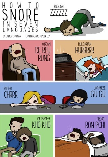 What Your Snore Sounds Like In Different Languages | HuffPost Life