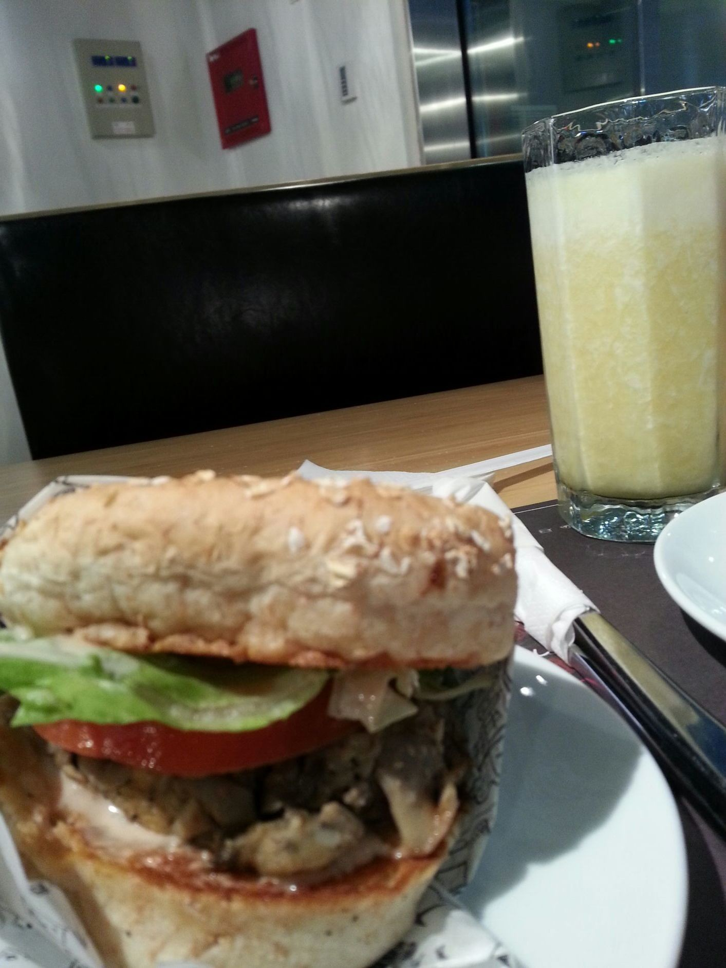 Why can't I stop eating this mushroom buger on oat bread followed by fresh pineapple! !!!