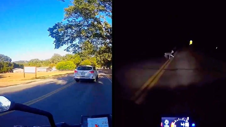 It's One Close Call After Another For This Motorcyclist