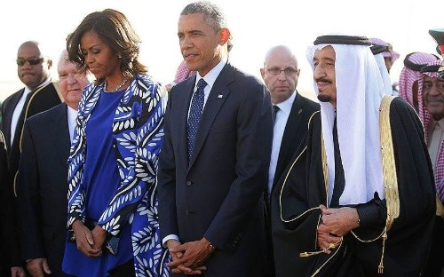 Michelle Obama causes outrage in Saudi Arabia by not wearing headscarf