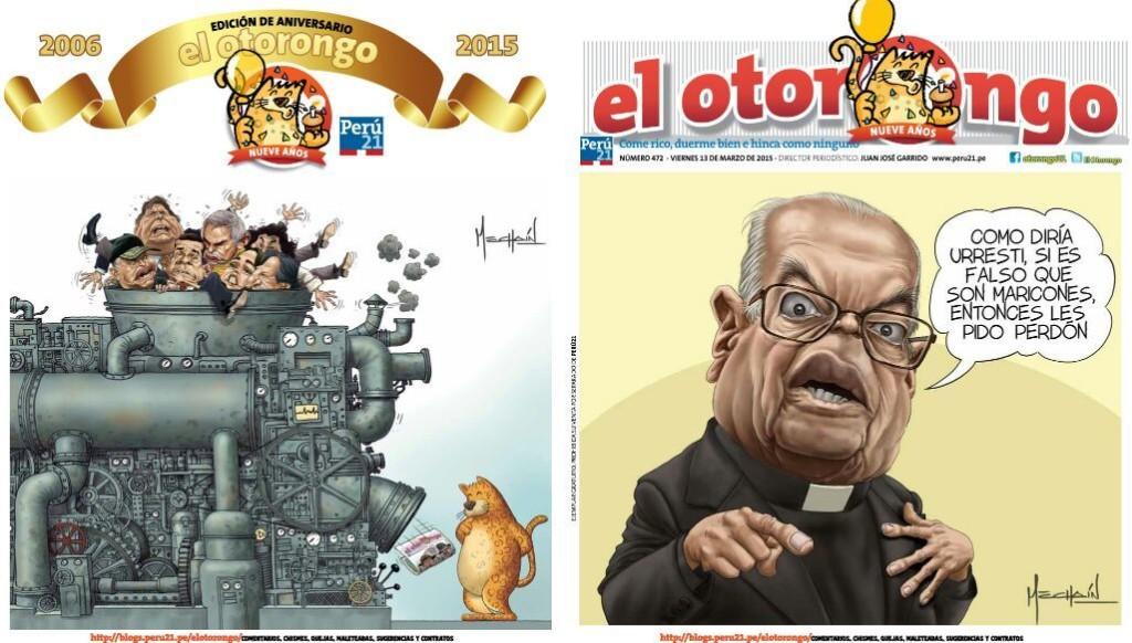 Otorongos  - Magazine cover