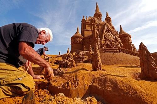 Disney in Sand Sculptures: Pictures