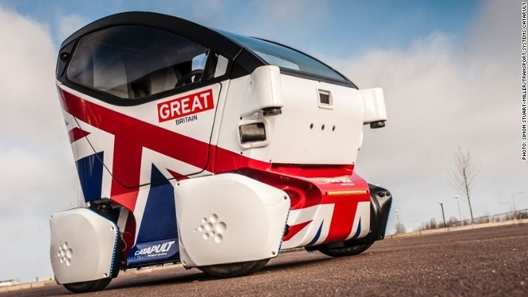 Driverless car debuts on U.K. roads